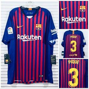 Nike FC Barcelona Gerard Pique 18/19 Soccer Jersey